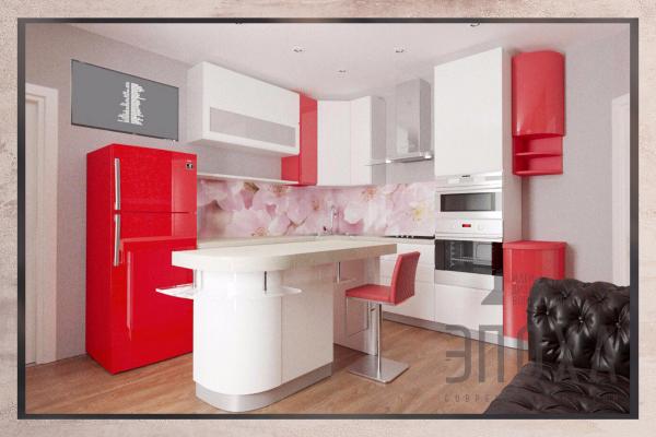 Кухня Красные танцы